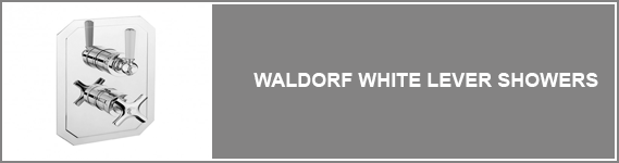 Waldorf White Levers Showers