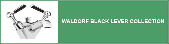 Waldorf Black Lever Bathroom Taps