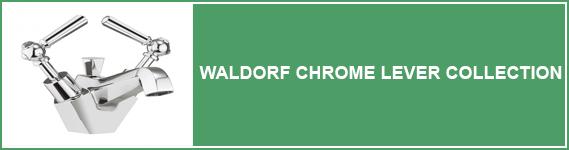Waldorf Chrome Lever Bathroom Taps