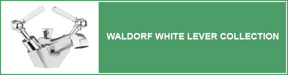 Waldorf White Lever Bathroom Taps