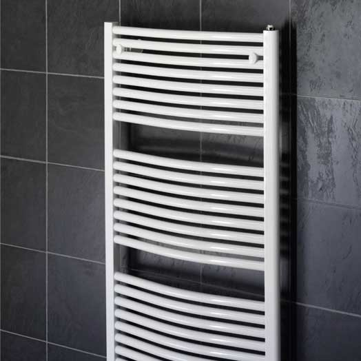Aura 25 Curved Electric Towel Warmer Chrome White: Tapstore Design Curved 500 X 800 White Towel Rail Pack