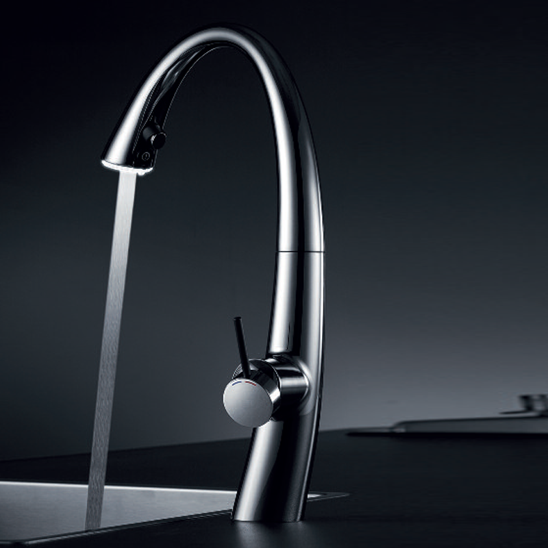 More Views Zoe Moloc Kitchen Tap With Led And Pull Out Aerator Chrome