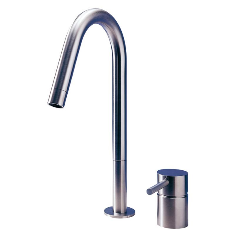 buy f2 2 hole kitchen mixer tap matt stainless steel mgs