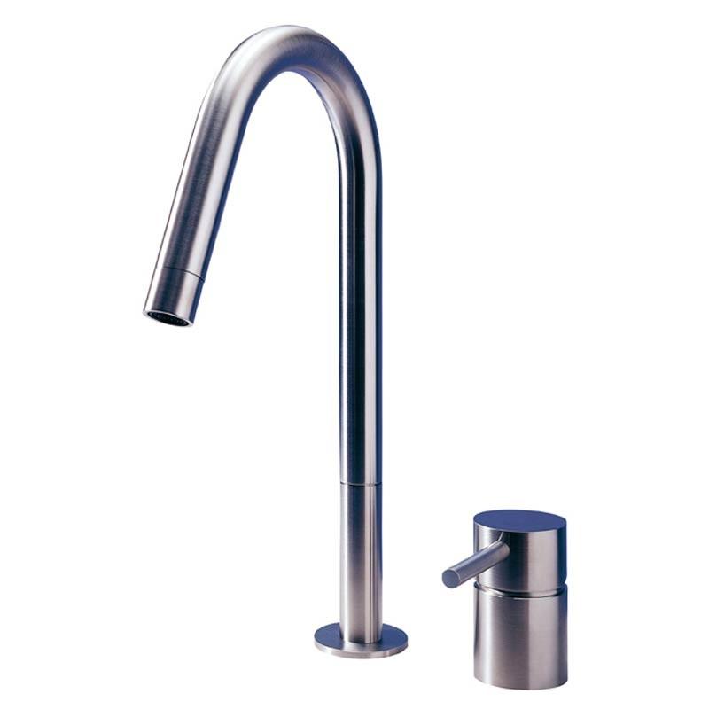 buy f2 2 hole kitchen mixer tap matt stainless steel mgs