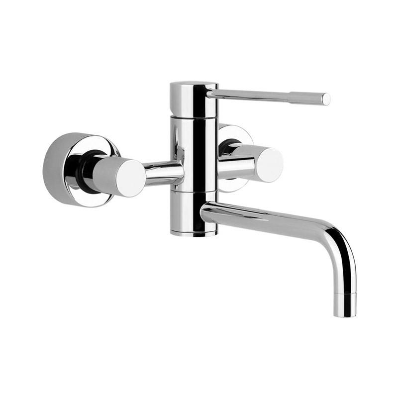 Buy Oxygen Wall Kitchen Tap w/ Swivel Spout Chrome - 13175031 | Gessi