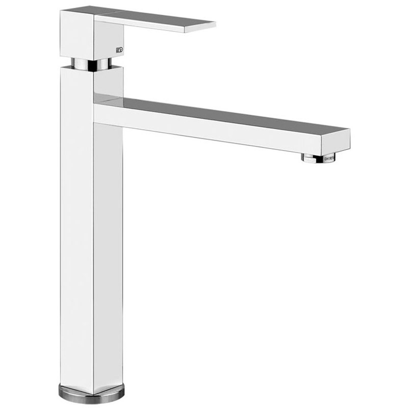 Gessi Rettangolo Tall Monobloc Sink Mixer with Swivel Body Brushed Steel