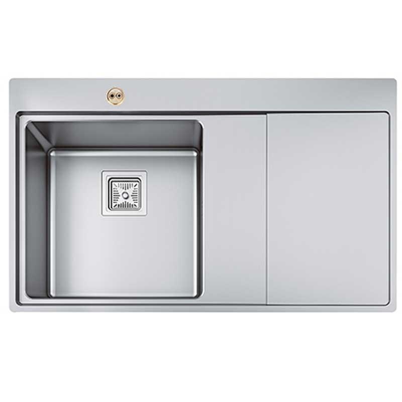 Bristan l Kitchen Sink Ingot 1.0 Bowl Stainless Steel Right Drainer SK ING1 SR