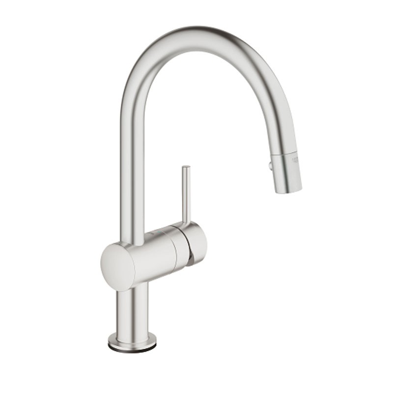 Minta Touch Electronic Sink Mixer C Spout Steel