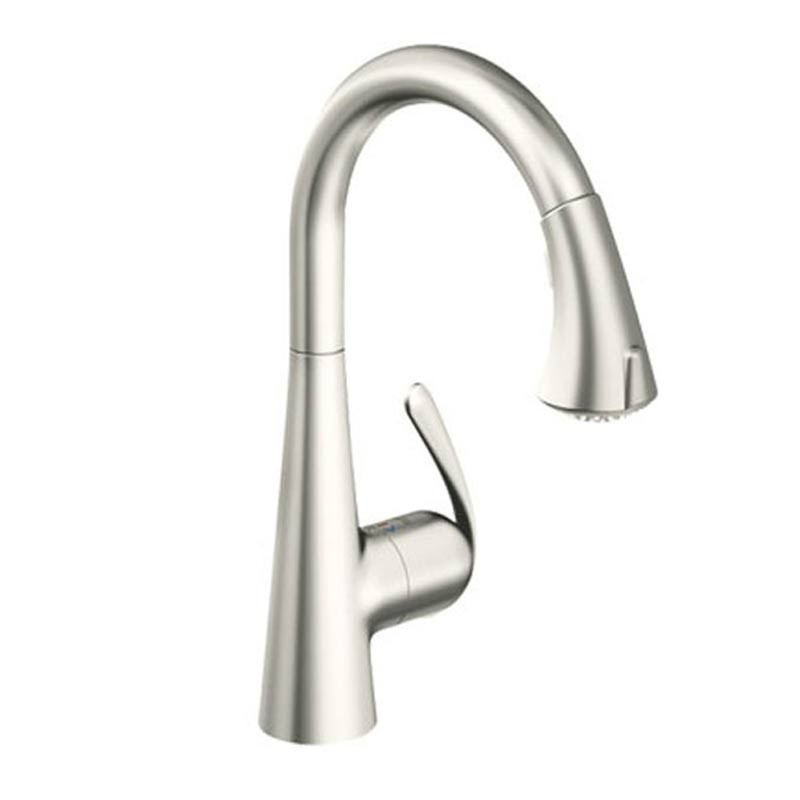 Buy Zedra Pull Out Spray Sink Mixer Brushed Steel 32 294 Dc0 Grohe