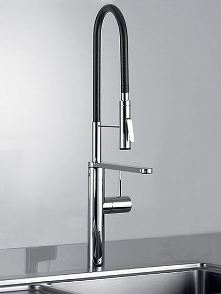 Ono Highflex Kitchen Sink Mixer Tap With Swivel Spout And Pre-Rinse Spray