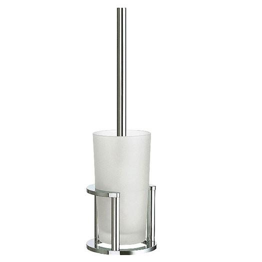 Outline Free Standing Glass Toilet Brush Set 1