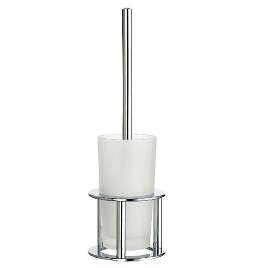 Outline Free Standing Frosted Glass Toilet Brush 2