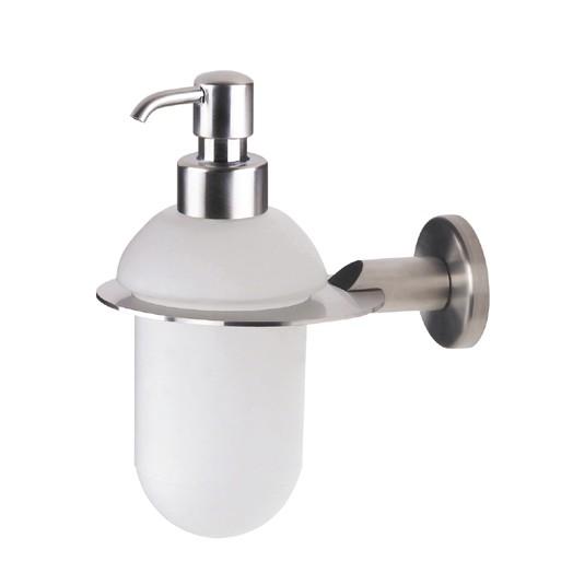 Urban Brushed Steel Glass Soap Dispenser