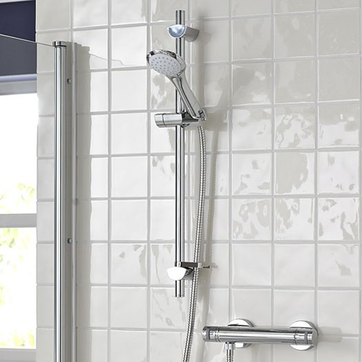 Artisan Thermostatic Bar Shower Valve with Evo Shower Kit and Single Function Handset