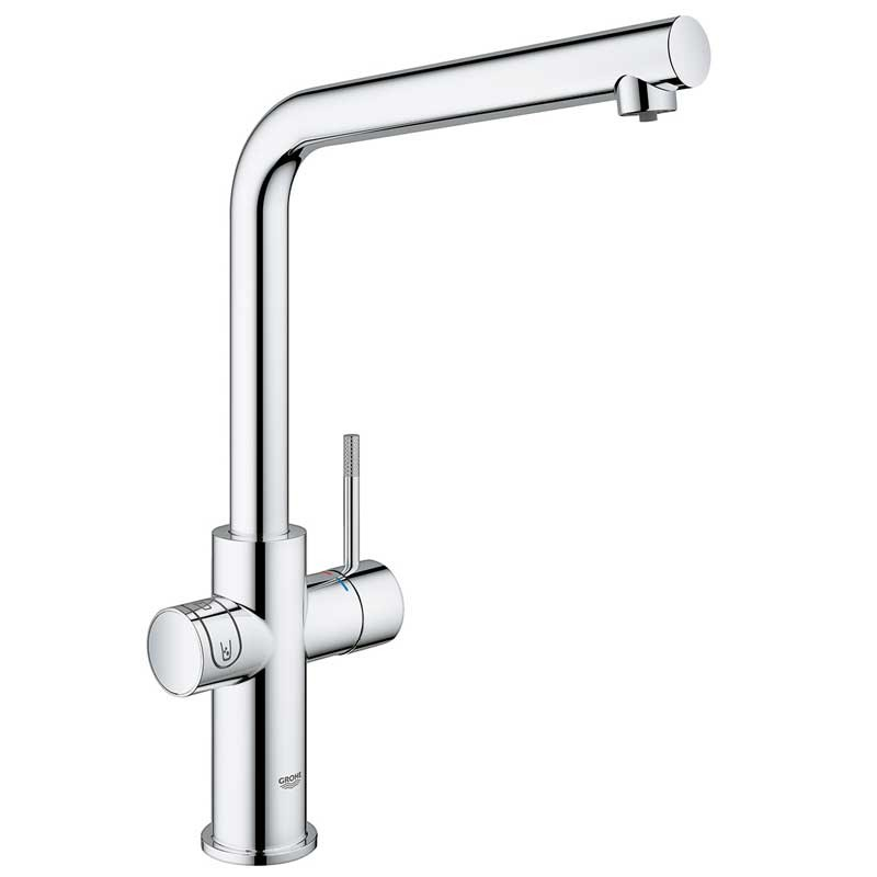 Buy Blue Home Mixer and Cold Filter Tap L Spout Chrome - 31454000 ...