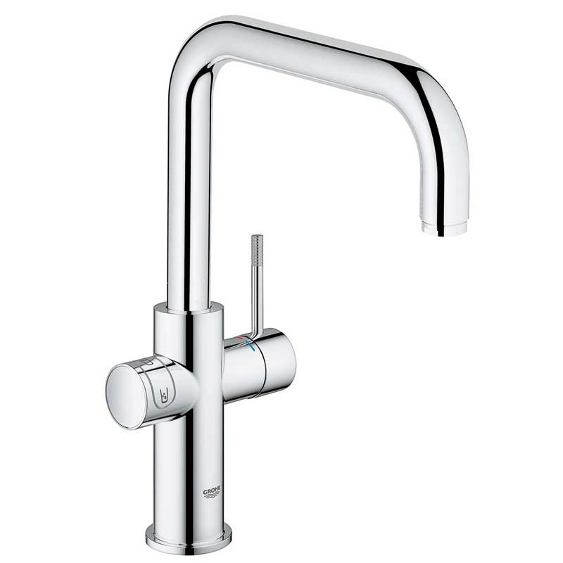 buy blue home mixer and cold filter tap u spout chrome 31456000 grohe. Black Bedroom Furniture Sets. Home Design Ideas