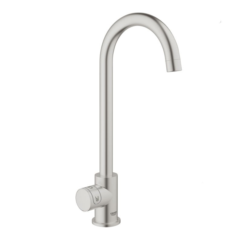 Buy Blue Home Mono Cold Filter Tap C Spout Brushed Steel - 31498DC0 ...