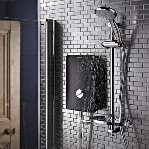 bristan bliss electric shower black. Black Bedroom Furniture Sets. Home Design Ideas
