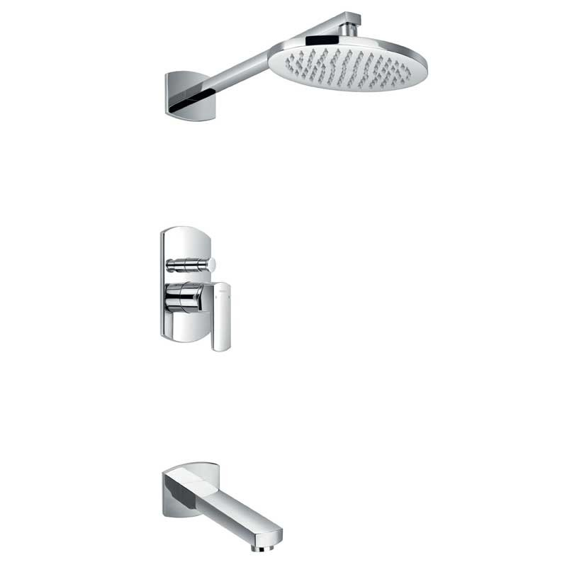 Dekka Manual Shower With Fixed Head and Bath Spout (Showers)