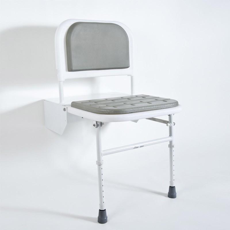 DocM Shower Seat with Legs Blue - DOCM-SEAT B | Bristan