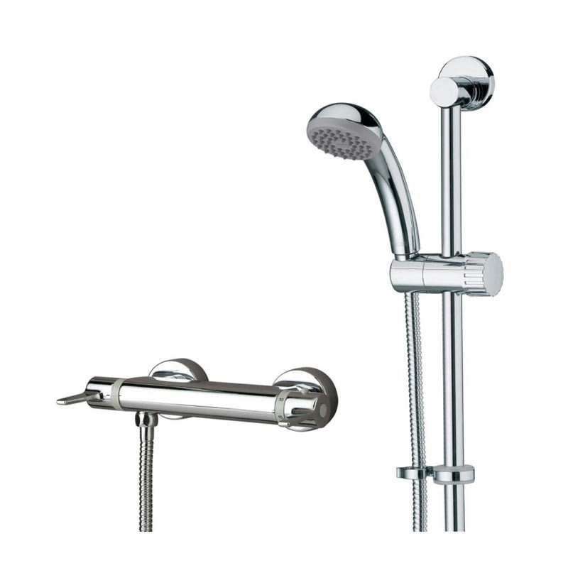 Design Utility Lever Thermostatic Exposed Bar Valve with Riser Rail ...