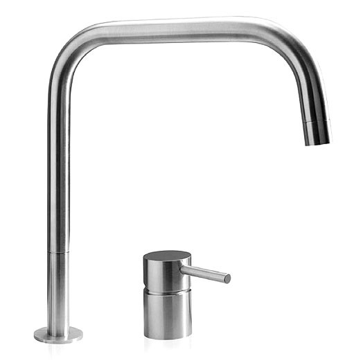 Buy Mgs F2 Sq 2 Hole Mixer Tap Matt Stainless Steel 0119m Mgs
