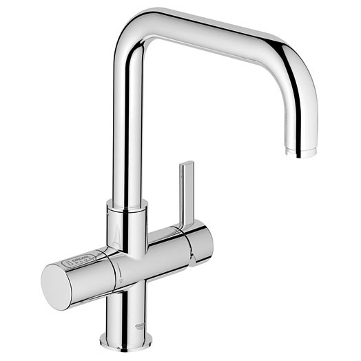 buy blue mixer and cold filter tap u spout chrome 31338000 grohe. Black Bedroom Furniture Sets. Home Design Ideas