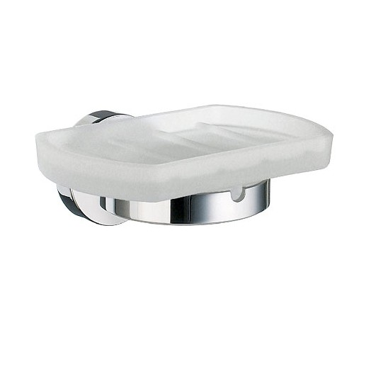 Home Frosted Glass Soap Dish With Holder