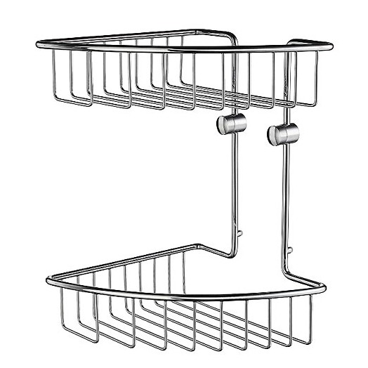 House Wall Mounted Corner Two Tier Basket