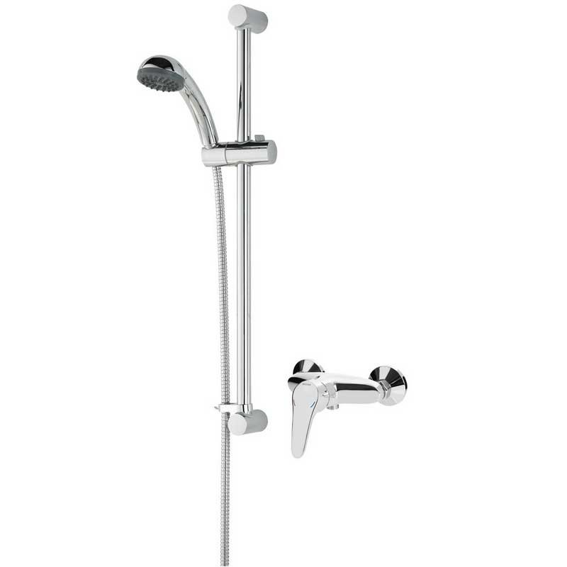 Jute Manual Surface Mounted Shower with Adjustable Riser