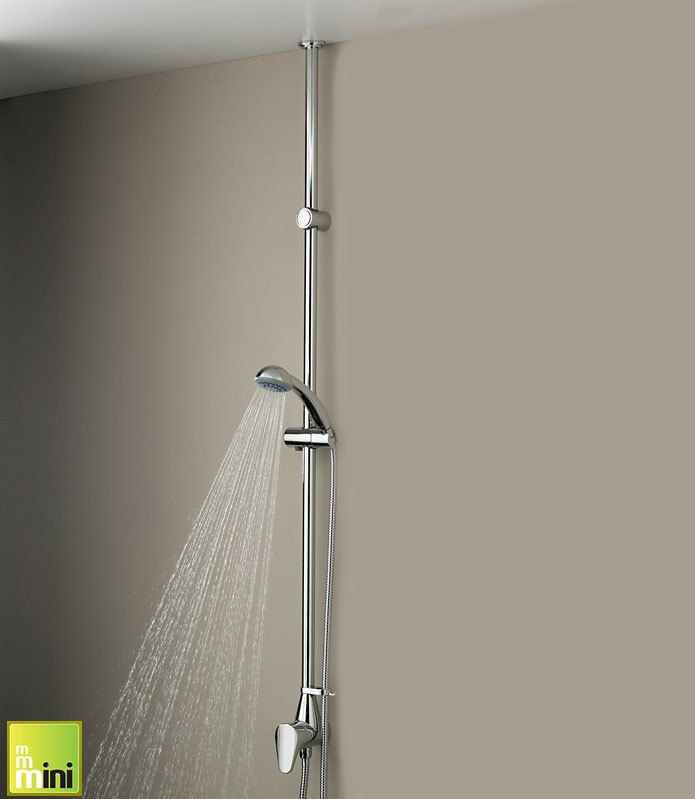 Bristan Jute Mini Ceiling Fed Shower with Adjustable Riser