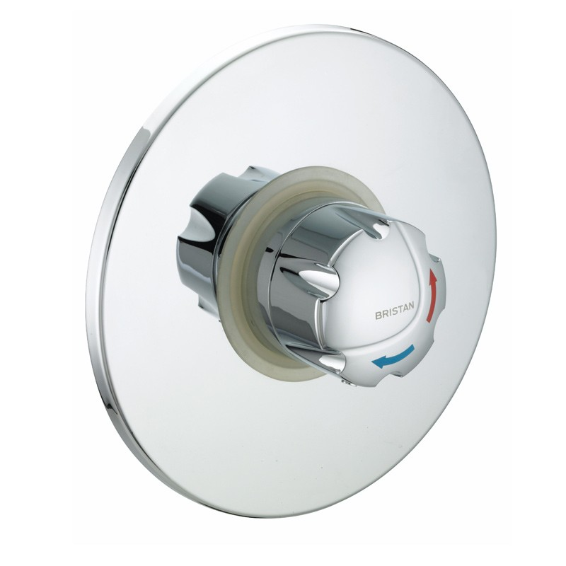 OPAC Thermostatic Concealed Shower Valve with Chrome Handwheel