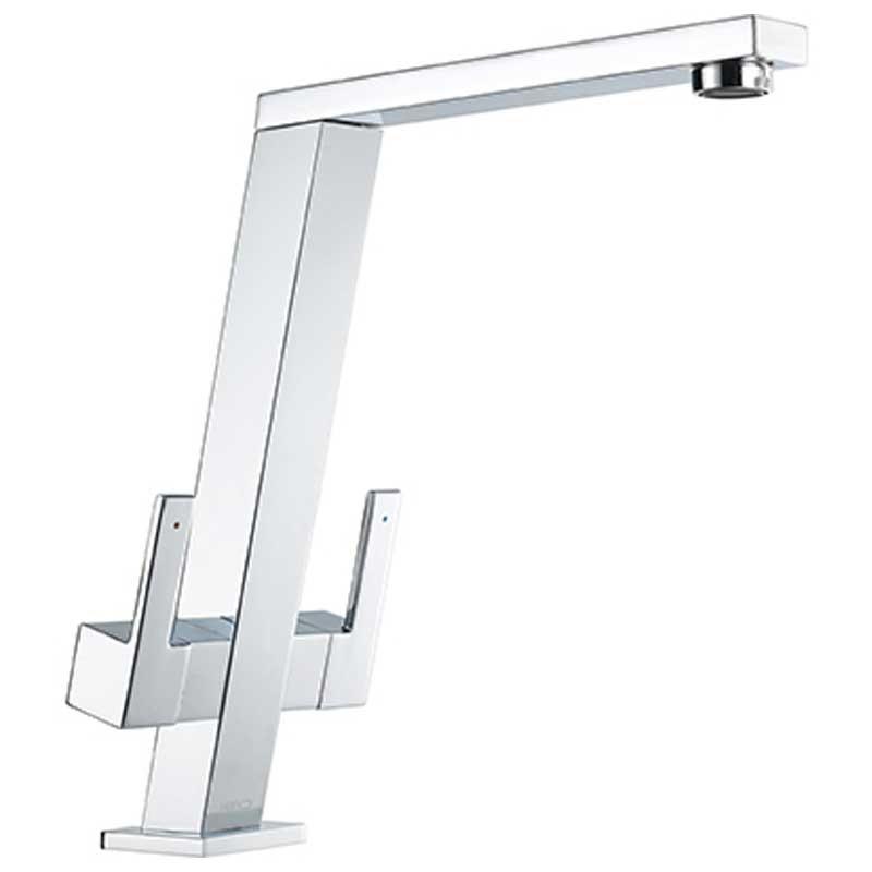 Pendenza Angle Spout Sink Mixer Chrome