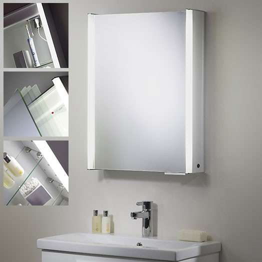 roper plateau single door bathroom cabinet with light 22568