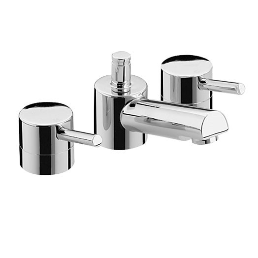 Prism Three Hole Basin Mixer