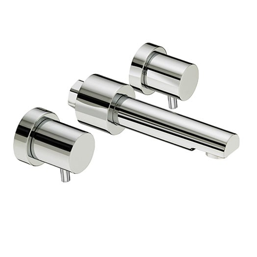 Prism Three Hole Wall Basin Mixer