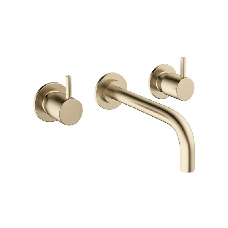 MPRO 3 Hole Basin Set Brushed Brass