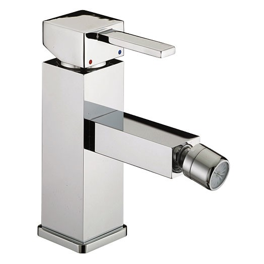 Bristan Quadrato Eco Bidet Mixer with Pop-up Waste