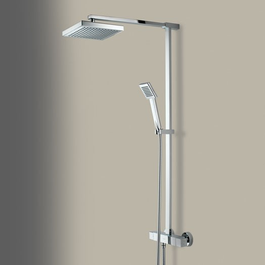 Quadrato Bar Shower Valve With Rigid Riser And Diverter to Handset