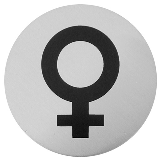 Female Bathroom Sign | Urban Steel Female Symbol Bathroom Sign