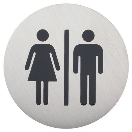 Urban Steel Male Female Bathroom Sign