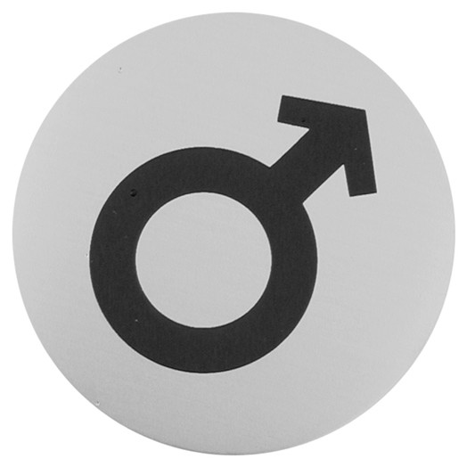 Urban Steel Male Symbol Bathroom Sign - Male bathroom sign