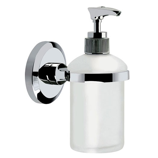Solo Wall Mounted Frosted Glass Soap Dispenser
