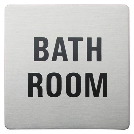 Urban Steel Bathroom Square Bathroom Sign