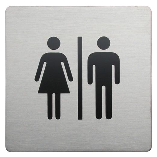 Urban Steel Male/Female Square Bathroom Sign