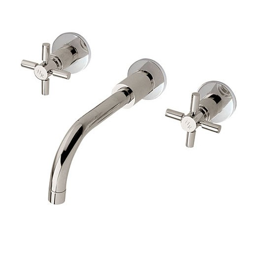 Tec Crosshead Wall Mounted Basin Mixer