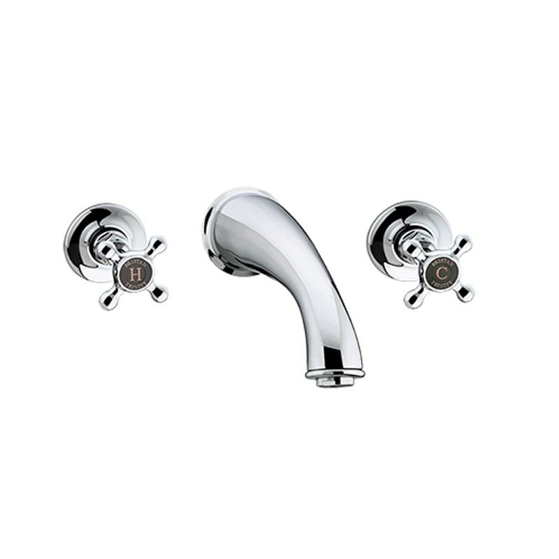 Trinity Three Hole Wall Bath Filler