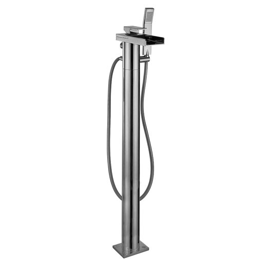Water Square Floor Bath Shower Mixer