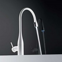 Eve Light Monobloc Kitchen Tap with Pull-Out Aerator Black Chrome