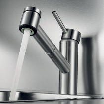 Inox Monobloc Kitchen Sink Mixer Tap With Pull Out Spray